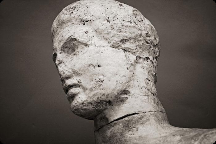 museum statue face