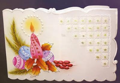 Tarjeta navide a en papel vegetal como hacer una tarjeta - Hacer una tarjeta navidena ...