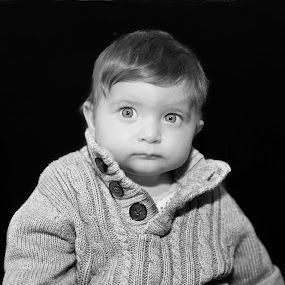by Christos Psevdiotis - Babies & Children Child Portraits ( child, black & white, baby, portrait, eyes )