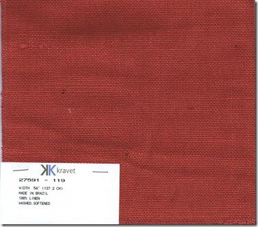 kravet joni red linen