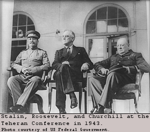 Roosevelt, Churchill, Stalin