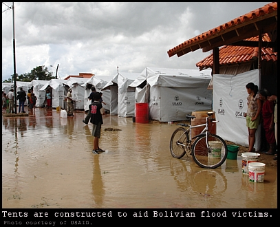 Bolivian flood victims