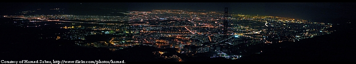 Tehran night panorama