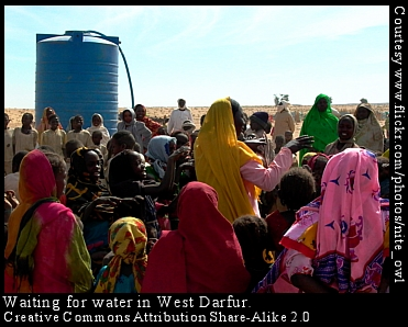 water tank in Darfur