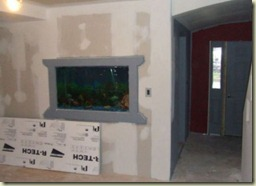 Natural design and logical dwellings for Fish tank built into wall