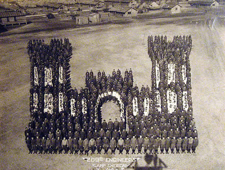 209th Engineers, Camp Sheridan - Amazing  Mass Formation