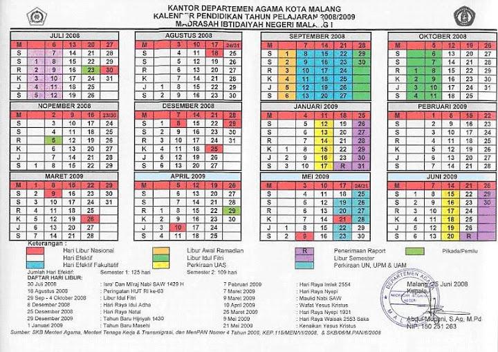 Kalender Pendidikan 2008/2009