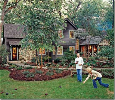 front garden cottage living