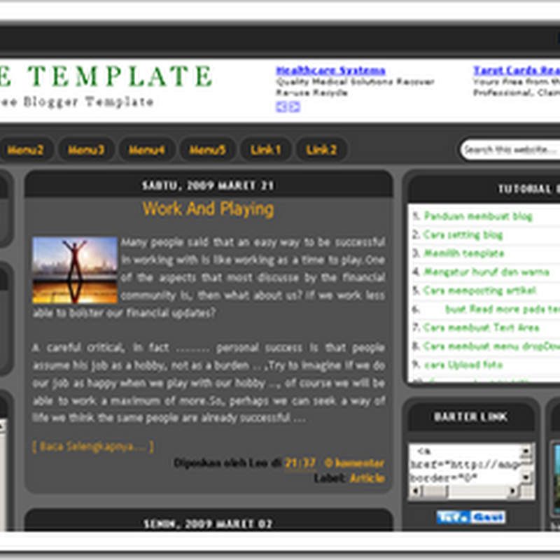 Free Download XML Blogger Templates 3 Column