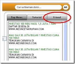 Kolom Link Friend