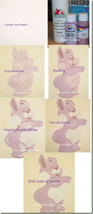 How to Paint a Purple Bunny