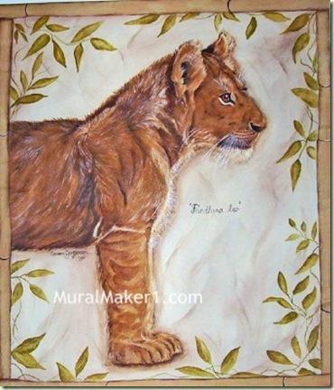 lion cub painting