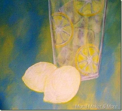 how to paint lemons