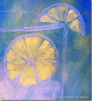 how to paint lemon