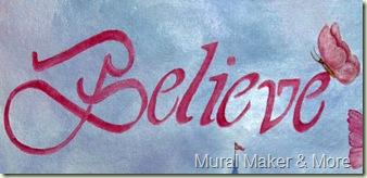 Believe-lettering
