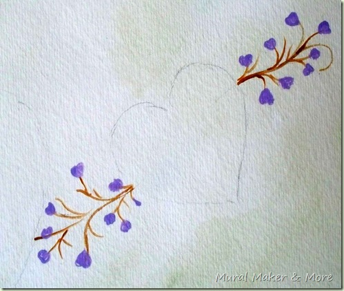 Hearts flowers easy painting project just paint it blog for Easy way to paint flowers