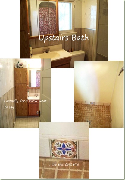 Upstairs Bath Before Collage