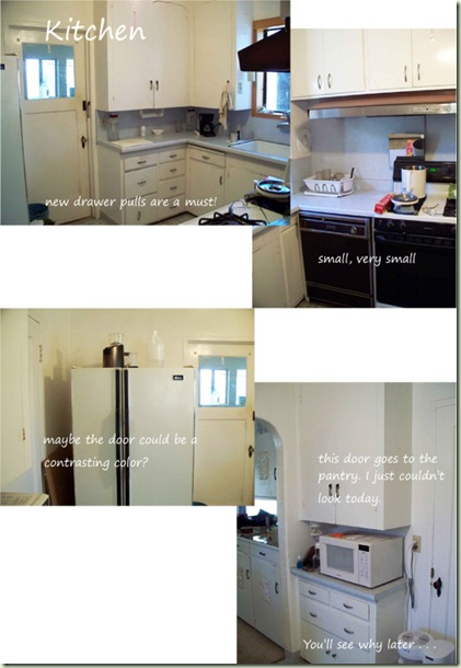 Kitchen Before Collage