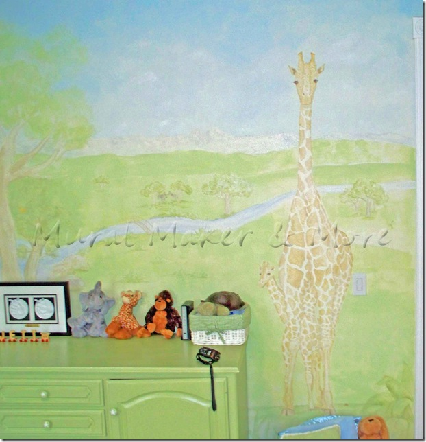 giraffe-mural-in-nursery