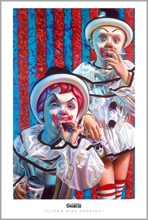 Ron English_Clown Kids Smoking