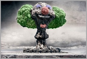 Mushroom Cloud Clown - Green