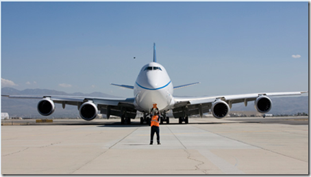 Boeing 747-8 Commercial plane