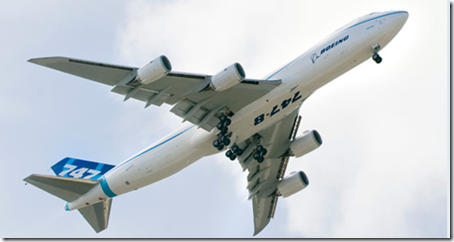 Boeing 747-8 Commercial plane 1