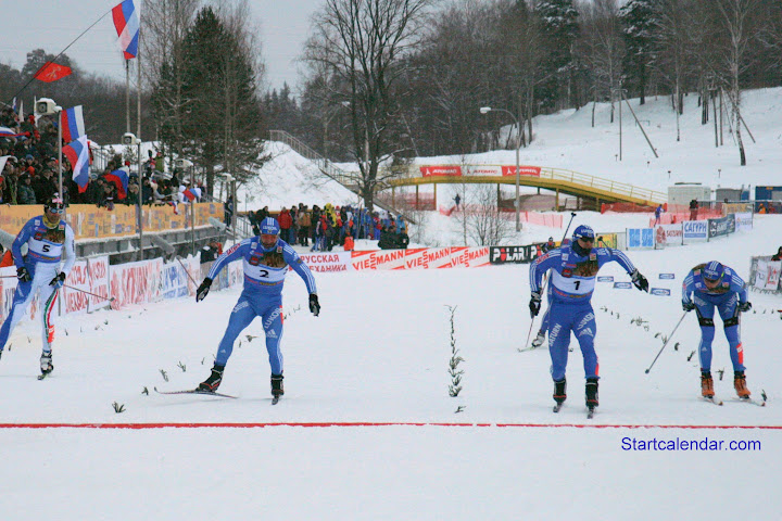 На финише Петухов, Морилов и Крюков, фото Олеси Федоровой