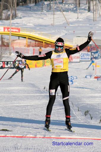 Юстина Ковальчик на финише, фото Алексея Федорова
