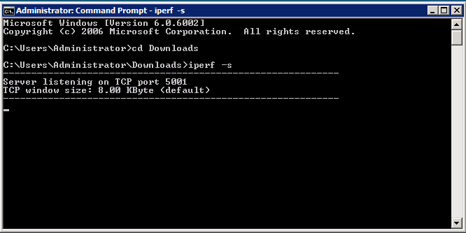Windows iperf3 server