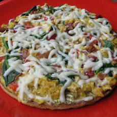 Spinach Scrambler Pizza