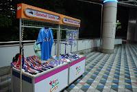 Tokyo, Spiel der Giants im Tokyo Dome, Fanshop der Swallows -vollständig verwaist. – 07-Aug-2009