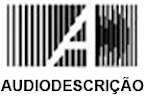 Logotipo do Blog da Audiodescrio: letras A e D. A letra D forma grafismo lembrando ondas sonoras se propagando