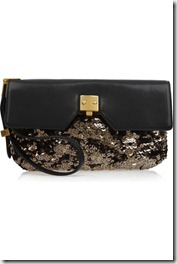 Marc Jacobs sequin leather clutch