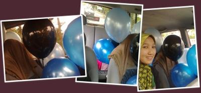 View balloon buzz theme blue