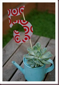 DIY Table numbers - Recycle