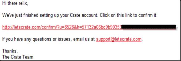 e-mail crate