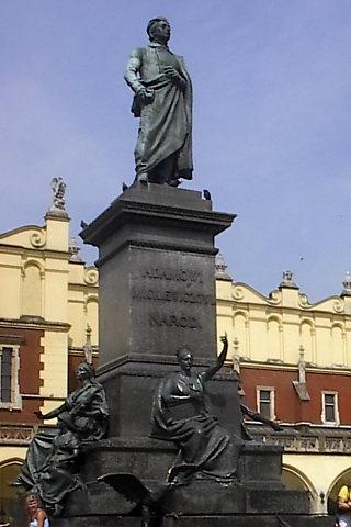 Pomnik Adama Mickiewicza, Kraków.
