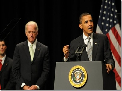 President Obama & Vice President Biden addressing the event at George Mason University