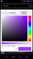 Screenshot of Custom ICS Search Widget