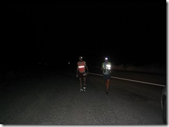 people running at night