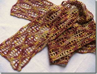 Skeletal Leaves Scarf