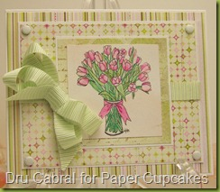 Paper Cupcakes Tulips