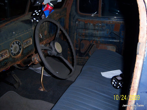 1947 Dodge pickup Rat Rod interior view of the cab