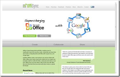 offisync webpage