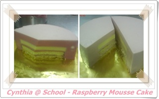 blog - raspberry mousse cake