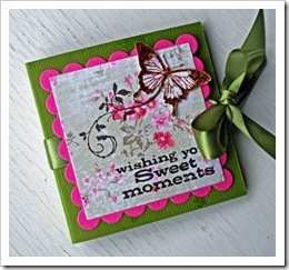 Tea bag card