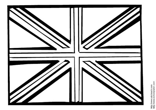 Drapeau United Kingdom A Colorier FN75