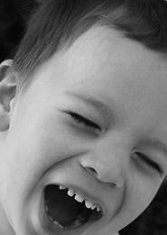 Jackson laughing bw