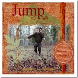 Jump into fall digital Layout